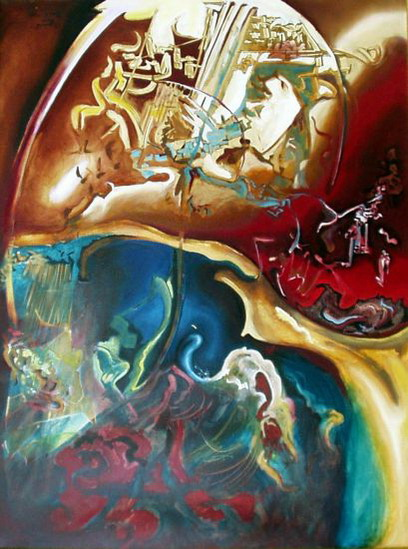 """Composition 1"", oil, 120x160 cm, 1998."