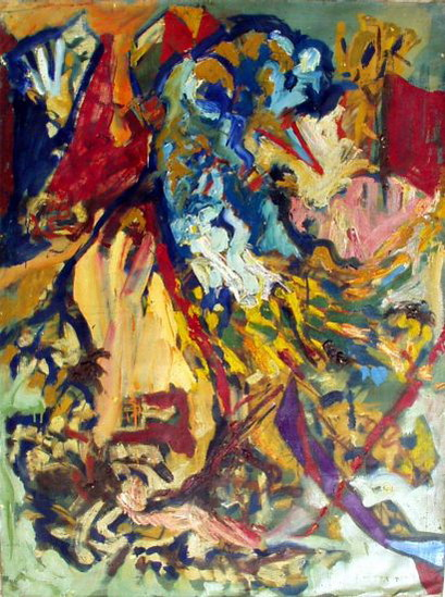 "«Composition 3"", oil, 122x91 cm, 1986."