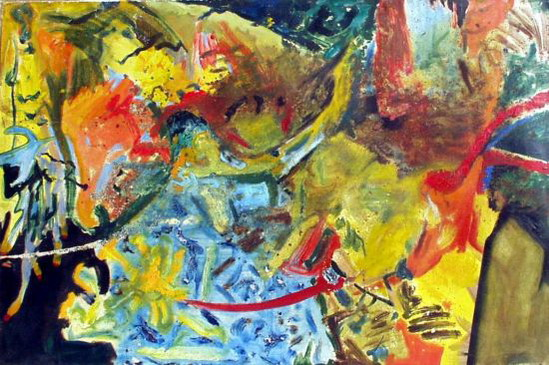 """Composition 9"", oil, 119x79 cm, 1988."